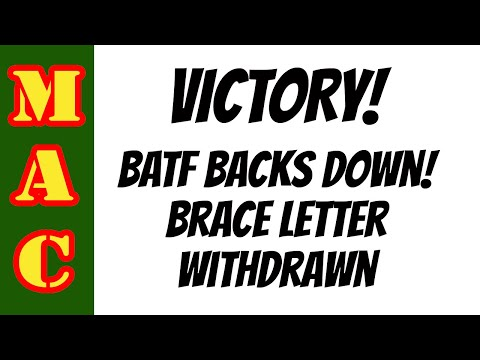 VICTORY: BATF Withdraws Brace Letter from Federal Registry