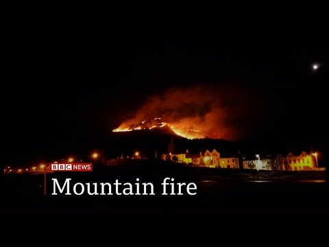 Moorland fire in County Down finally under control (Northern Ireland) - BBC News - 25th April 2021