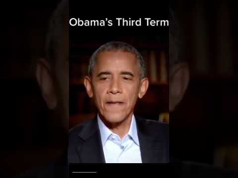 Obama talks about the third term.