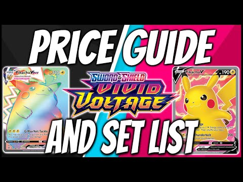 Official Pokemon Vivid Voltage Set List and Vivid Voltage Card Price Guide.