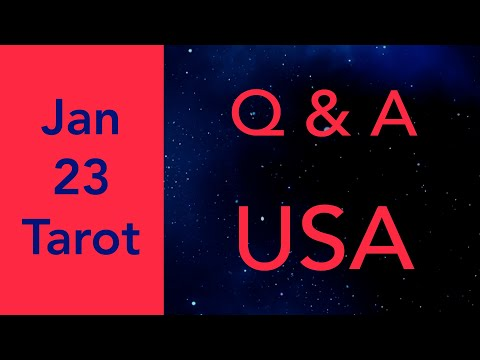 Q&A *time stamped* Jan 23 SOOO MANY QUESTIONS :) Tarot Reading