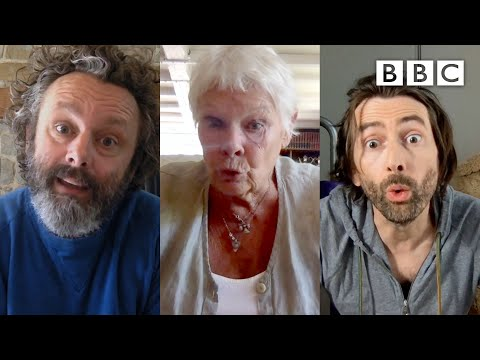 Judi Dench puts David Tennant and Michael Sheen in their place | Staged - BBC