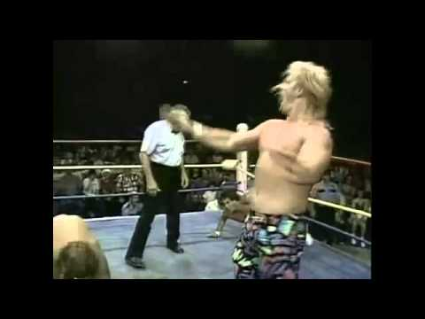 Chris Von Erich & Chris Adams vs Steve Austin & Percy Pringle III