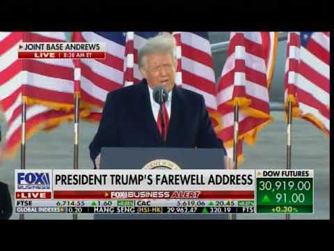 """I Will Always Fight for You -We Will Be Back in Some Form"" - President Trump Delivers Final Remarks"