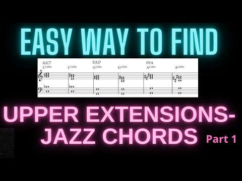 "EASY WAY TO FIND JAZZ CHORDS:  applied to the song: ""Like Someone In Love"". Jazz Tutorial."