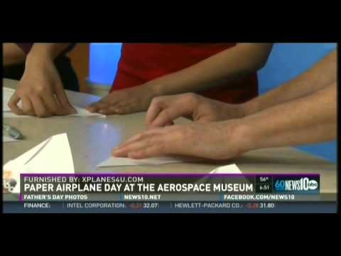 """Paper Airplane Guru"" Kevin Saunders on  KXTV ABC10  6am Sacramento, CA  June 21, 2015"