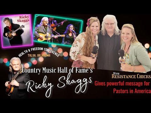 Ricky Skaggs Gives POWERFUL Message For Pastors In America From The Health & Freedom Conference!