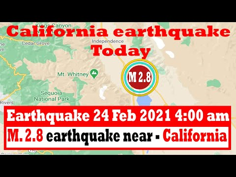 Light mag. 2.8 earthquake - 5.4 Inyo County, California, USA, on Wednesday, 24 Feb 2021 4:00 am