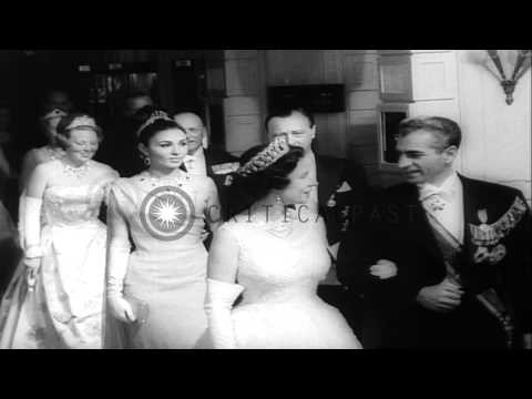 Celebration of the 25th Wedding Anniversary of the Queen Juliana and Prince Bernh...HD Stock Footage