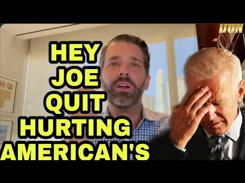 DONALD TRUMP JR SLAMS BIDEN OVER RISING GAS PRICES