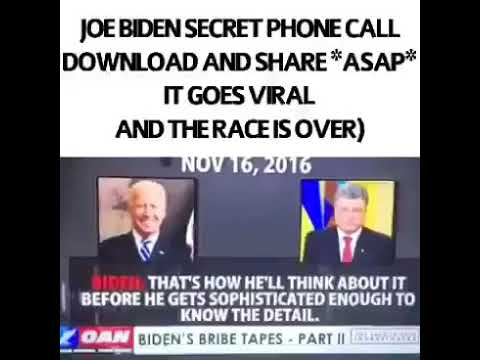 JOE BIDEN SECRET PHONE CALL! DOWNLOAD AND SHARE!