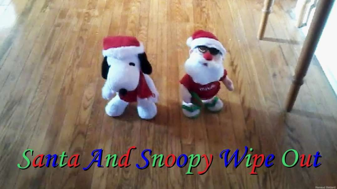 SANTA AND SNOOPY CHRISTMAS WIPE OUT