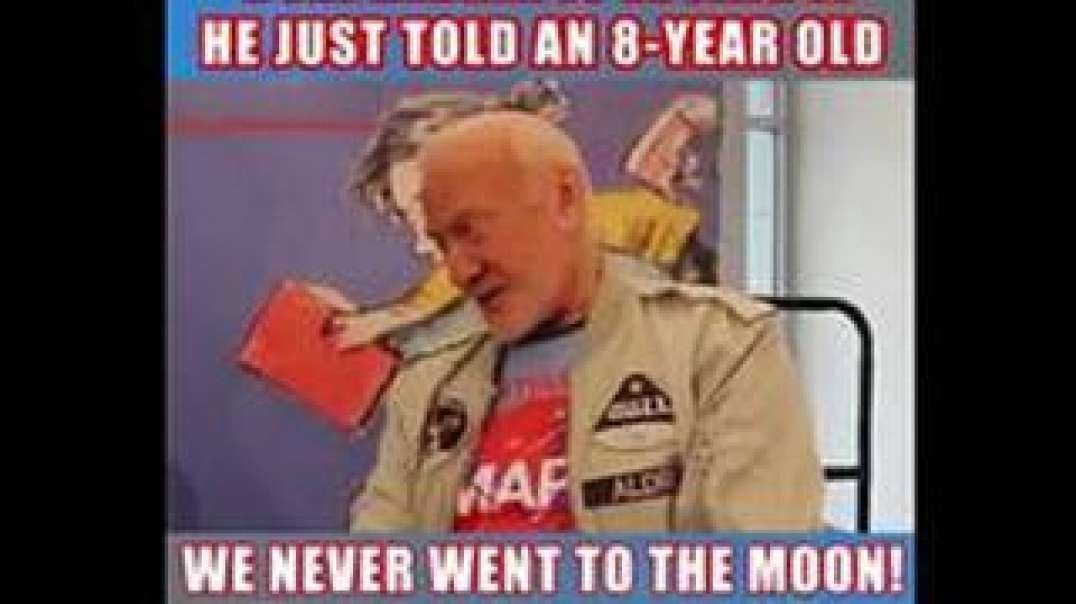 BUZZ ALDRIN IS FINALLY BECOMING CONSCIOUS THAT NOBODY CAN GO TO THE MOON, INCLUDING HIMSELF (VIDEO)