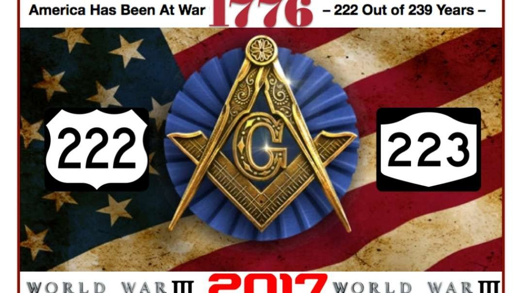 COG - 222 Wars since 1776 or in 239 years_93% of the time (WWIII+Satanic Freemasons)