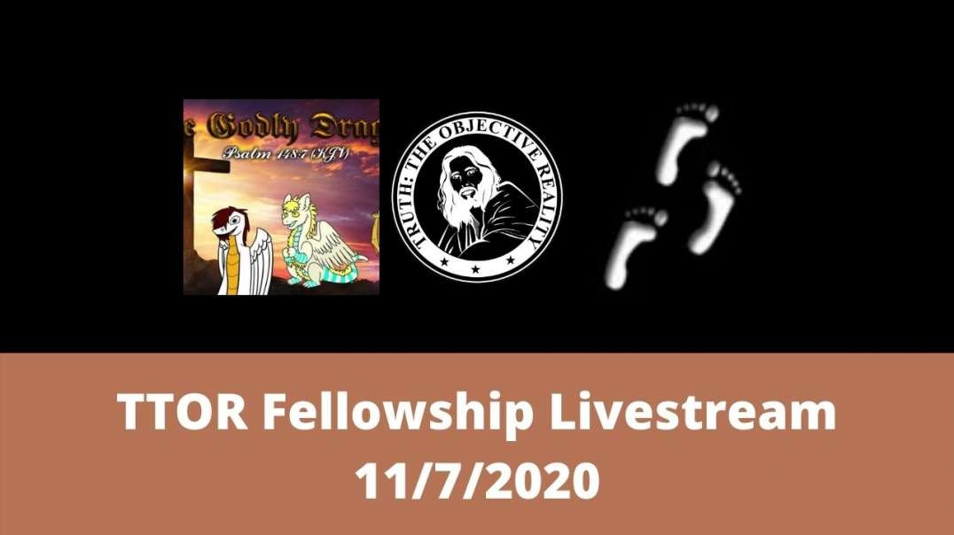 TTOR Fellowship Livestream 11/7/2020 (Godly Dragon, OurWalkInChrist)