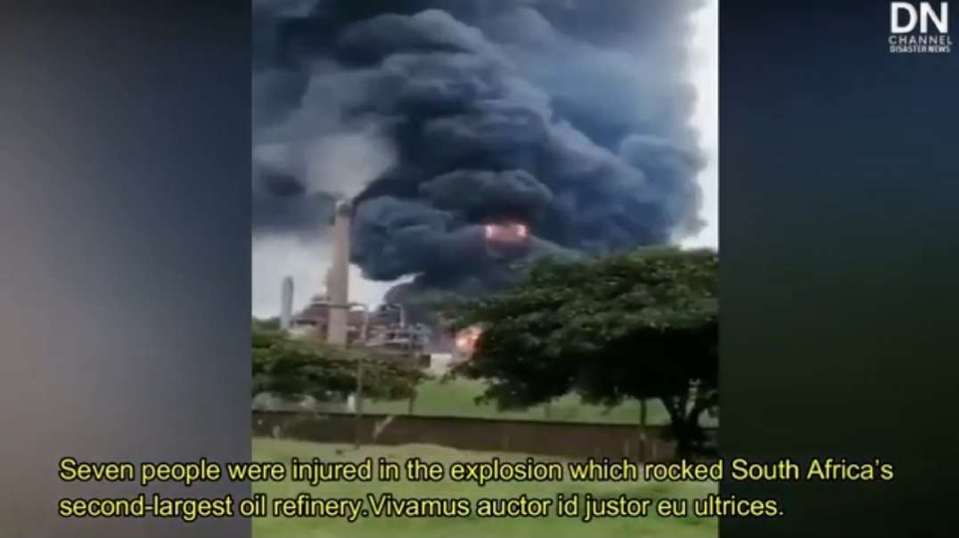 Massive explosion at Engen refinery in Durban, South Africa - Dec. 4th, 2020.mp4