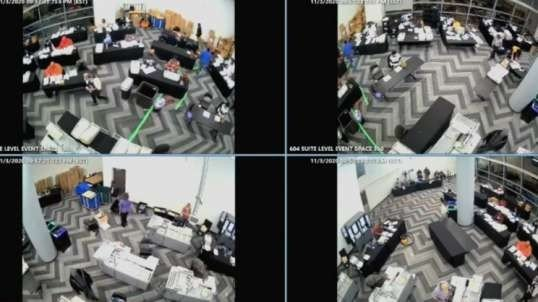 Footage from GA shows that poll workers were told to stop counting and leave, while some stayed