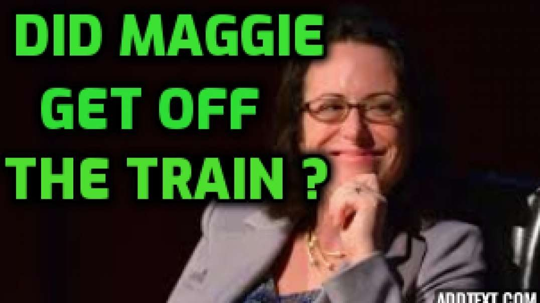 Did Maggie get off the train?