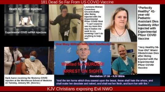 2 Weeks 181 Dead Including An Unborn Child!! And This Is A Vaccine To Save Us??