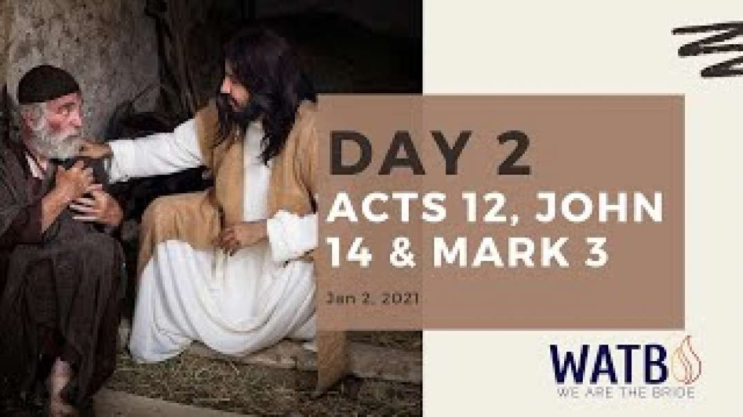 Day 2 - 40 Day w_Dr. June Knight - Acts 12, John 14, & Mark 3