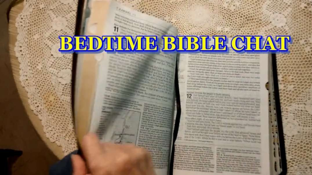 BEDTIME BIBLE CHAT:  PS. 11:  What Do We Do In Time Of Terror
