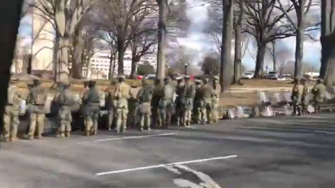 Majority of the military turned their back to Biden's motorcade passed by Source abc - link below