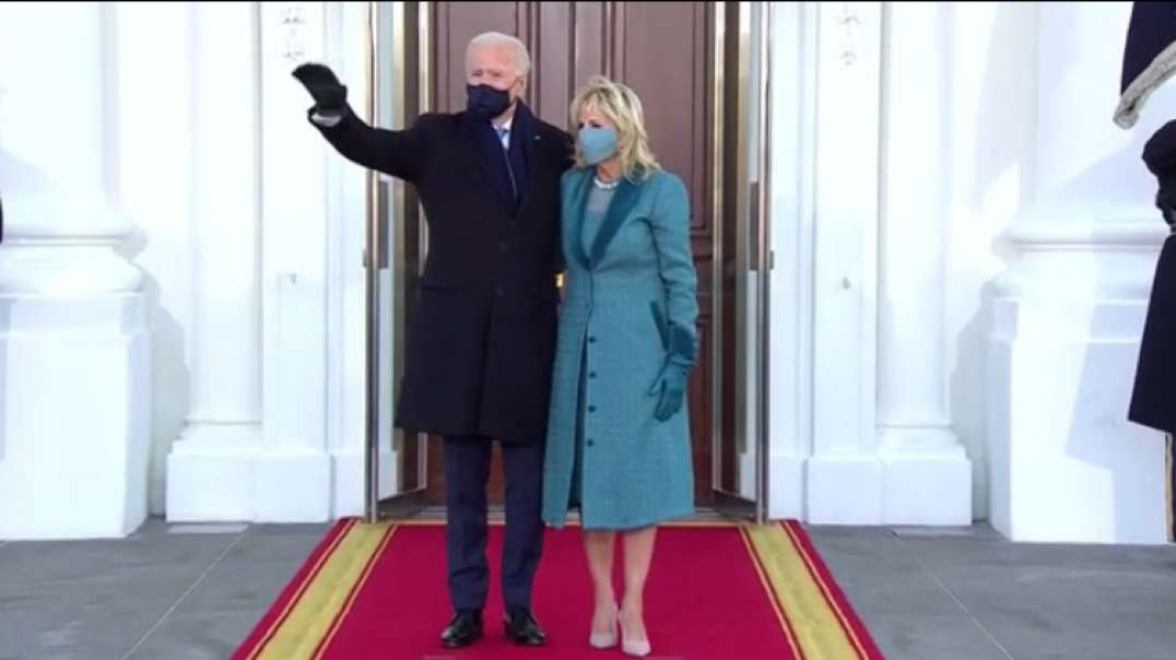 Biden enters White House after inauguration
