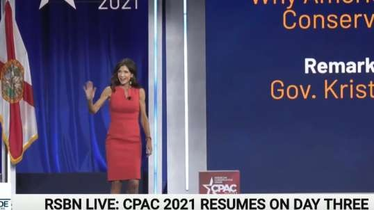 Gov. Kristi Noem No Masks No Lockdowns Slams Fauci Full Speech at CPAC 2021, FL 2/27/21