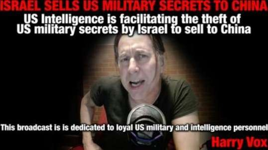 US INTELLIGENCE FACILITATING THE THEFT OF US MILITARY SECRETS BY ISRAEL TO SELL TO CHINA