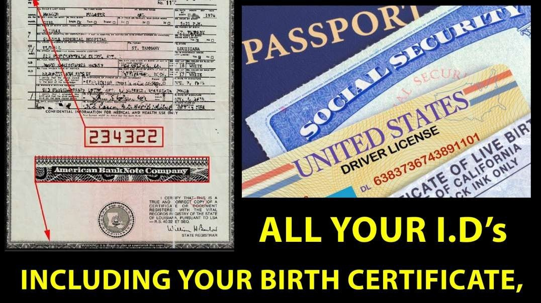 Your Birth Certificate is worth BILLIONS!