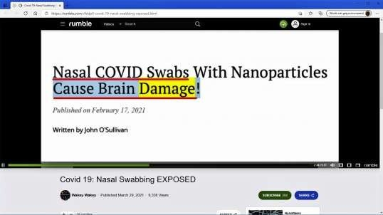 Covid-19 Nasal Swabbing EXPOSED!