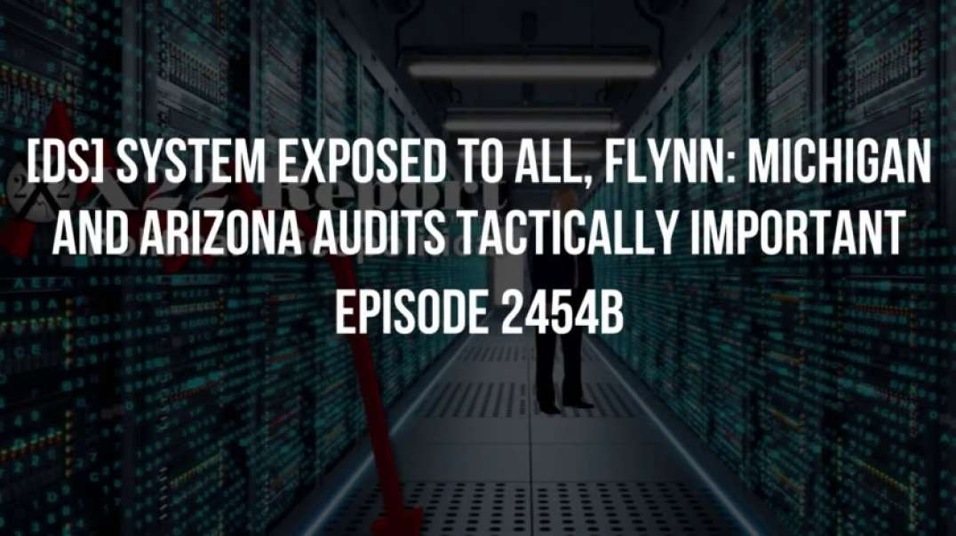 X22 Report (Ep. 2454b) [DS] System Exposed To All, Flynn Michigan And Arizona Audits Tactically Important