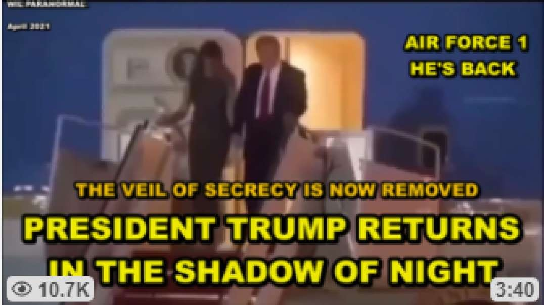 PRESIDENT TRUMP RETURNS IN A BLAZE OF GLORY ON AIR FORCE 1 - MILITARY PREPARING TO OUST BIDEN