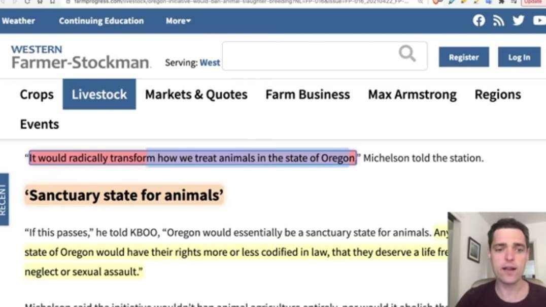 Oregon Bill to BAN Livestock - Stunning War on Farming-Ranching.mp4